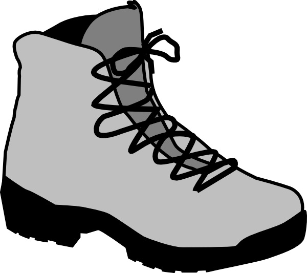 600x533 Clip Art Hiking Boots Clipart