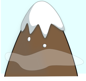 298x279 Brown Mountain With Sky And Clouds Clip Art