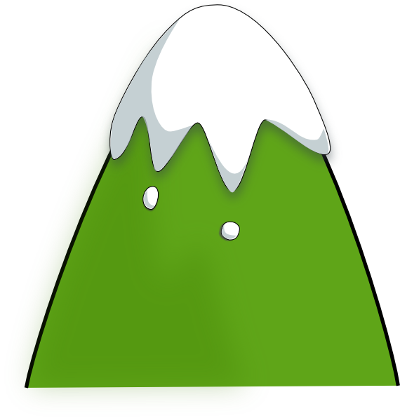 570x596 Free Green Mountain Clipart Image