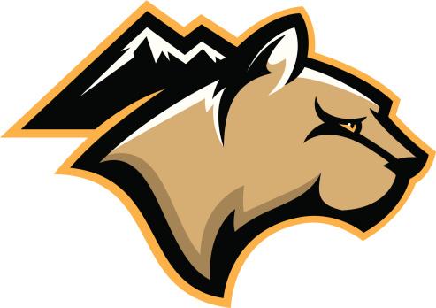 493x348 Mountain Lion Mascot Clipart