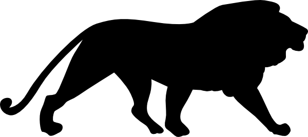 600x267 Mountain Lion Clipart Silhouette