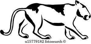300x146 Mountain Lion Clipart And Illustration. 834 Mountain Lion Clip Art