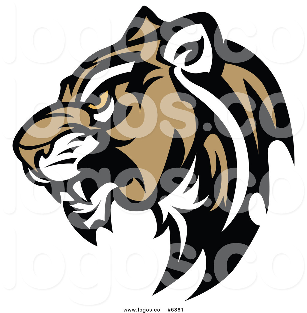 1024x1044 Royalty Free Clip Art Vector Logo Of A Cougar Head In Profile By