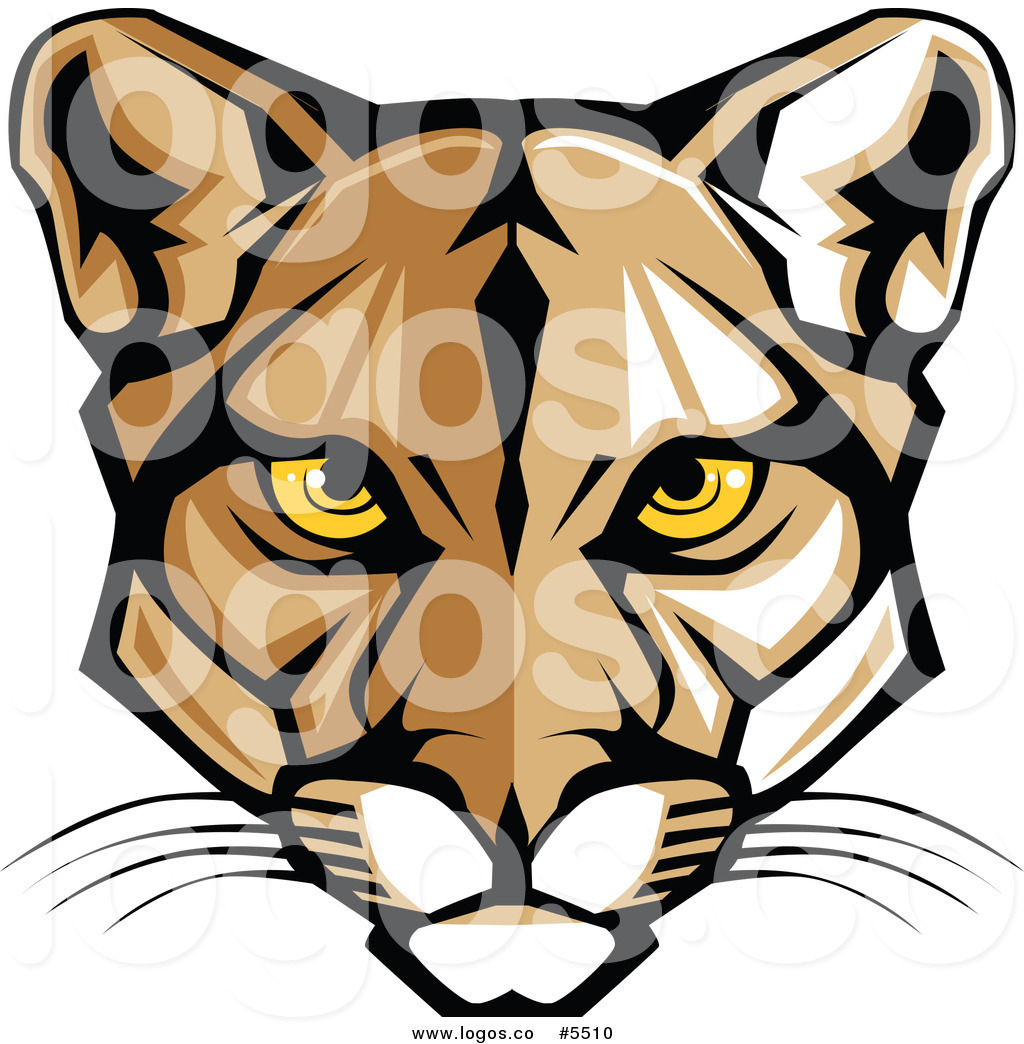 1024x1044 Royalty Free Vector Of A Logo Of A Mountain Lion Cougar Face By
