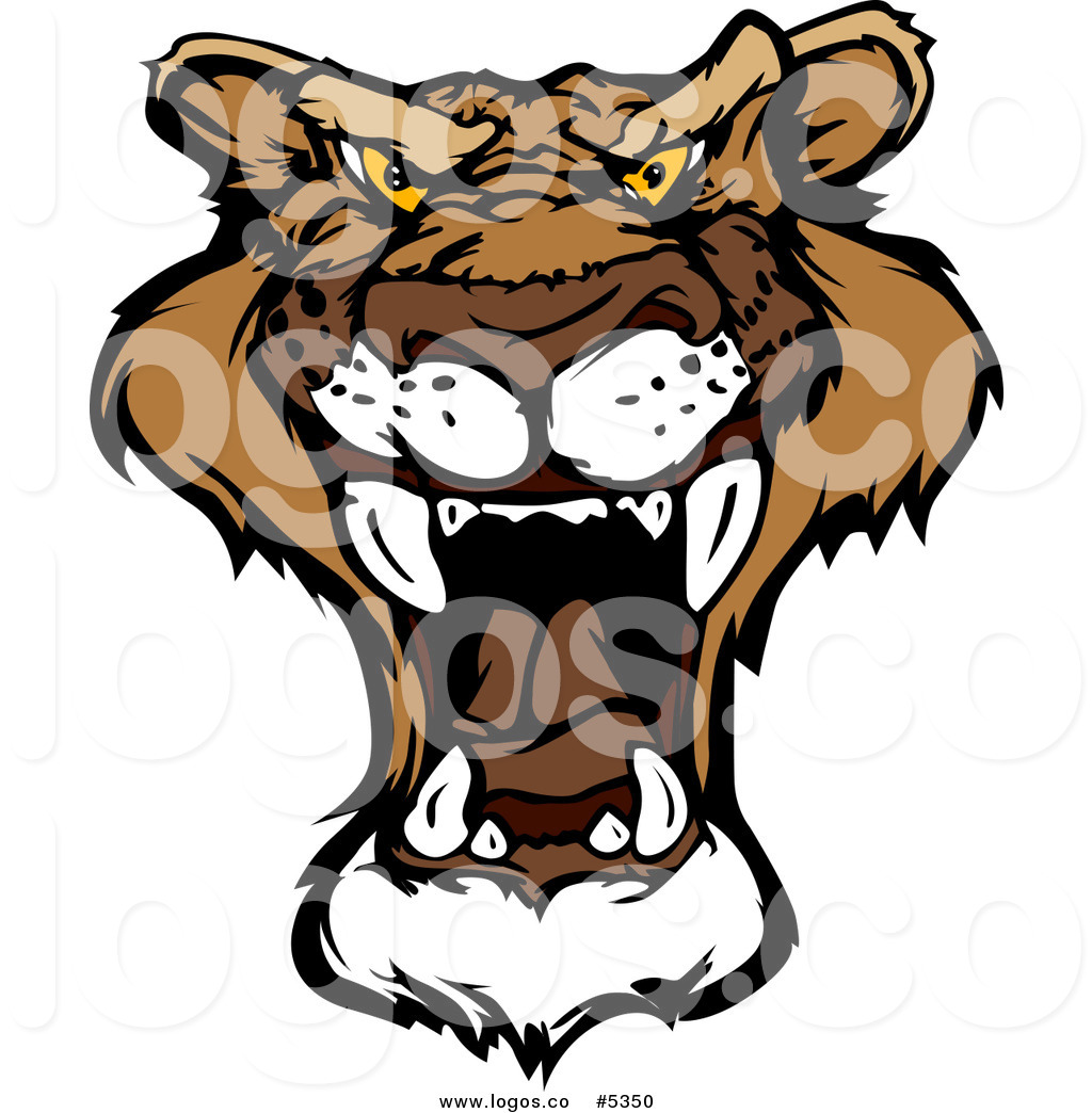 1024x1044 Royalty Free Vector Of A Logo Of A Roaring Mountain Lion By