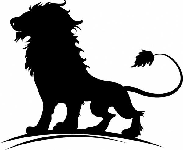 600x490 Mountain Lion Silhouette Clipart