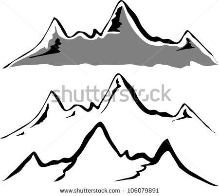450x403 Mountain Ridge Clipart Mountain Outline