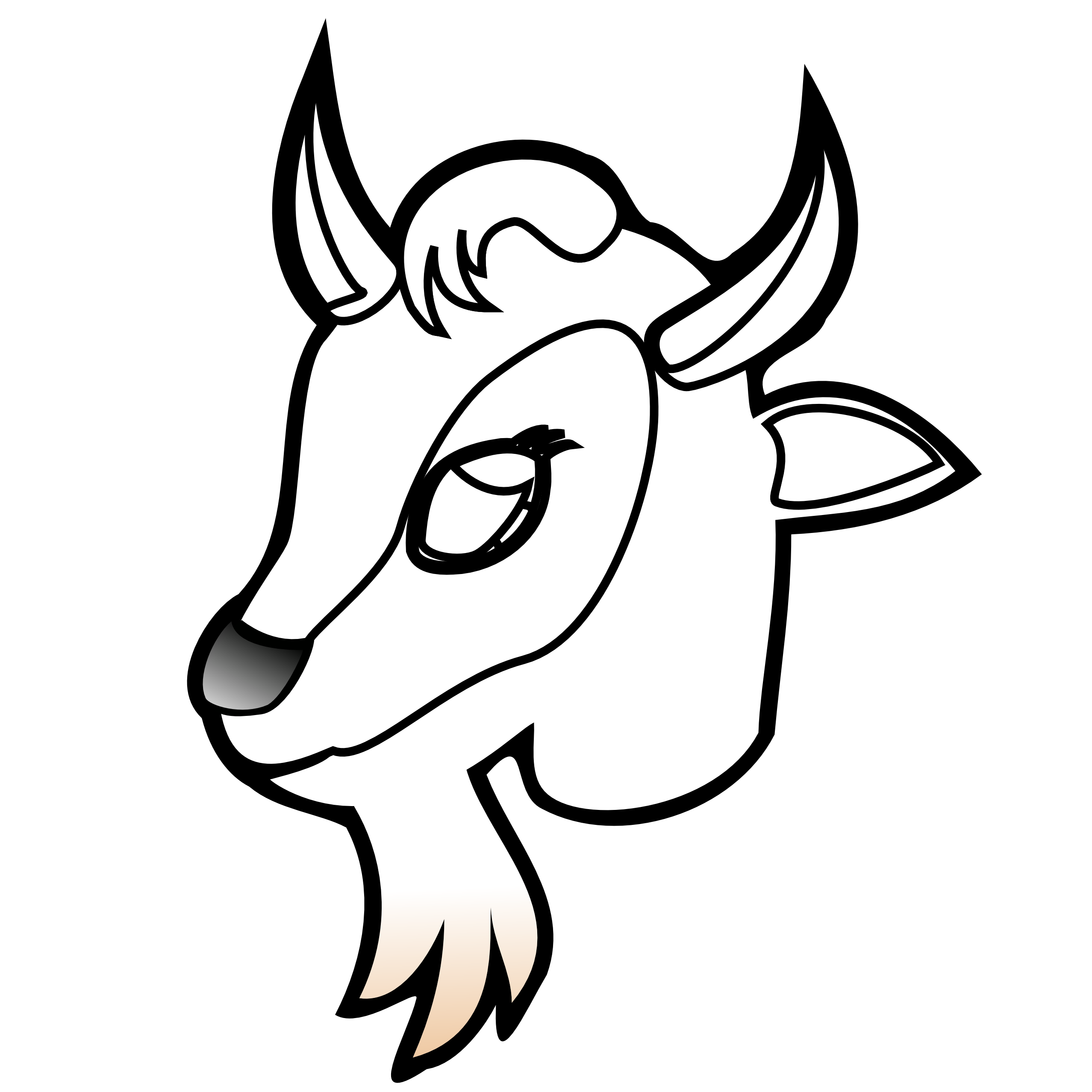 2555x2555 Mountain Goat Clipart Goat Face