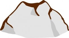 243x135 Mountain Clip Art, Vector Mountain