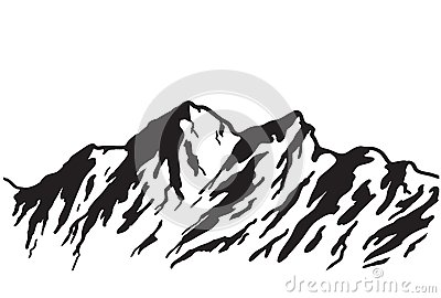 400x270 Mountain Silhouette Clipart