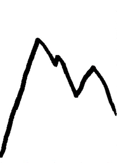 400x555 Mountain Sketch Clipart