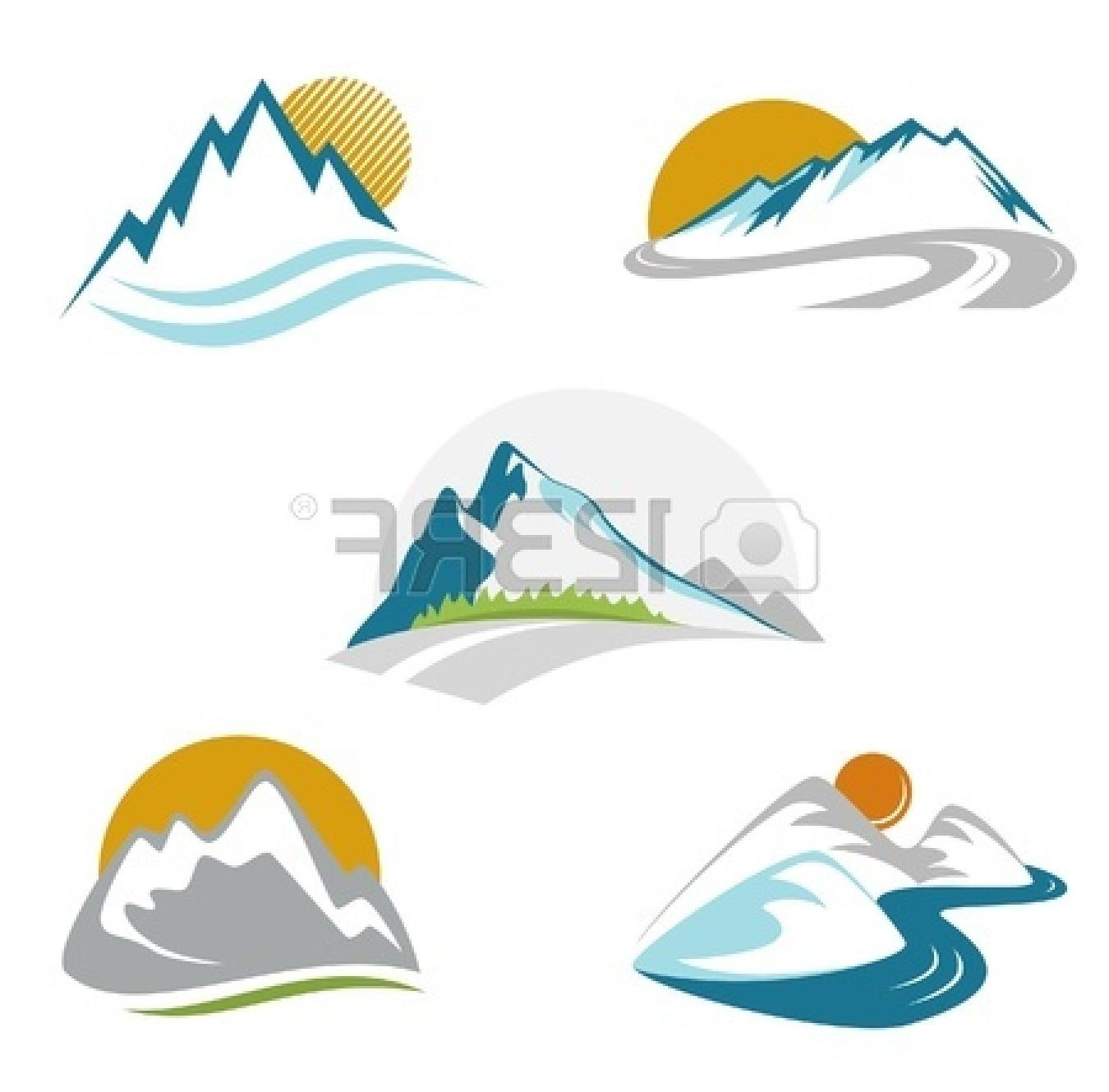 1350x1329 Best Mountain Peak Clip Art Toilet Plunge Diagram