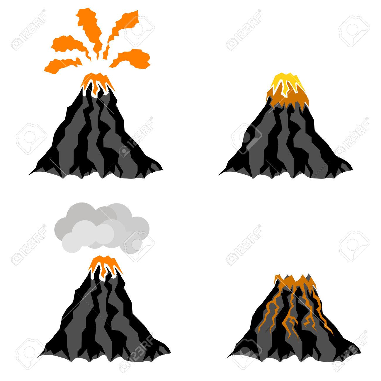 1300x1300 Volcanic Peak Clipart