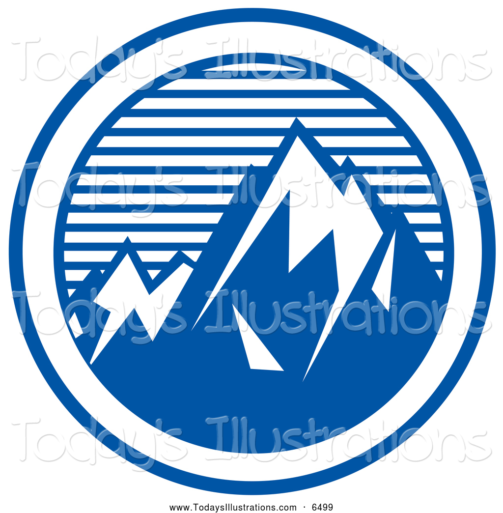 1024x1044 Clipart Of A Round Logo Of Mountain Peaks By Andy Nortnik