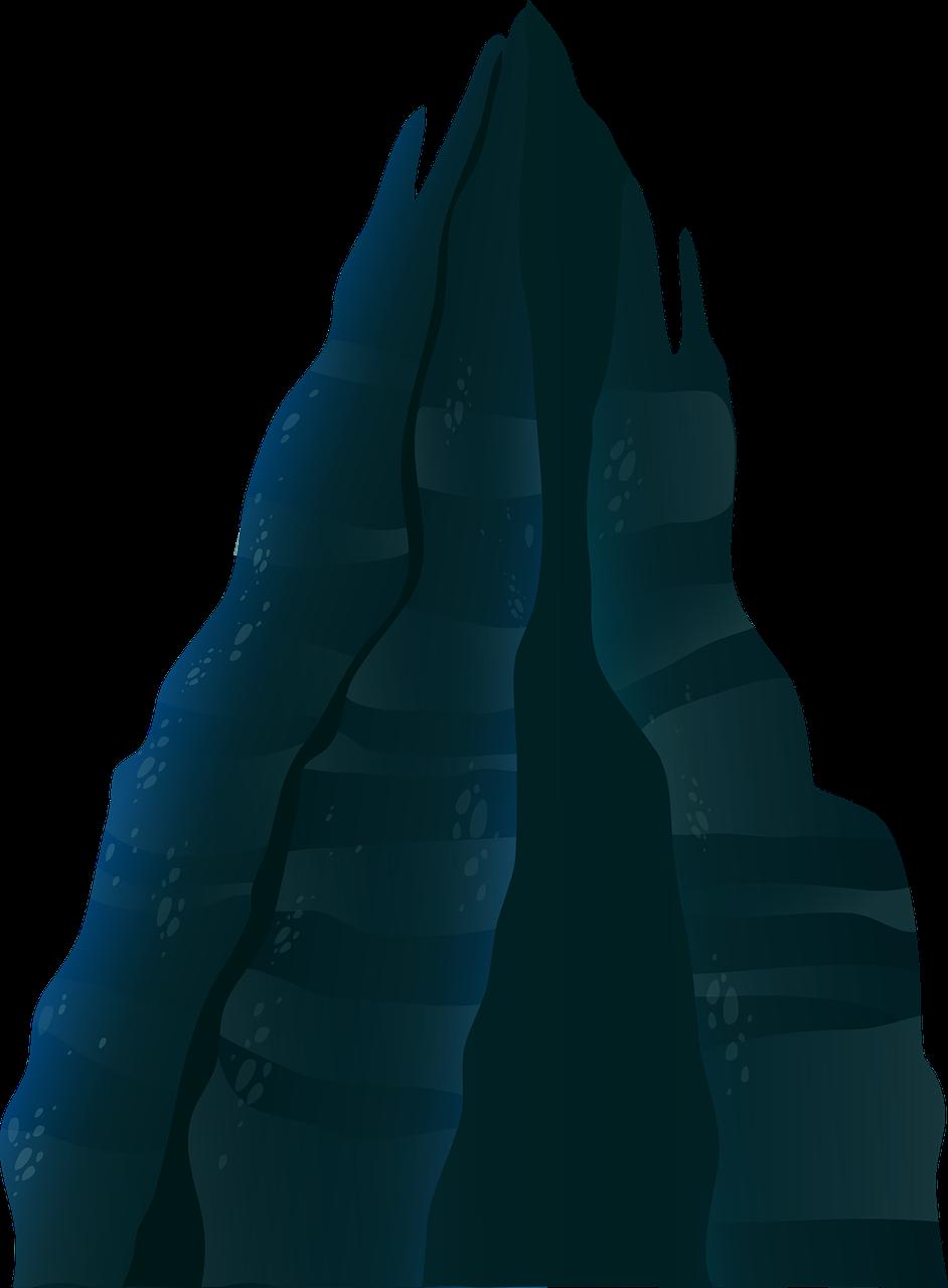 942x1280 Free Dark Mountain Clip Art