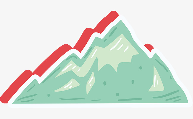 650x400 Green Cartoon Mountain Icon, Mountain, Cartoon Mountain, Cartoon