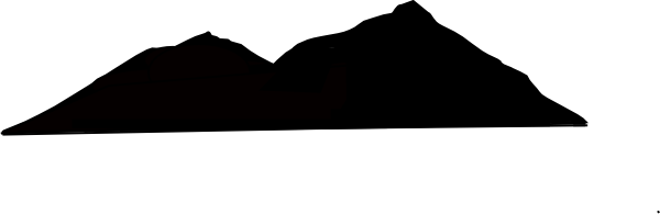 600x195 Mountain Silouette Clip Art