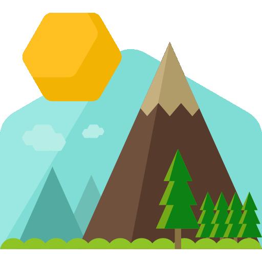 512x512 Mountain Flat Skyblue Icon