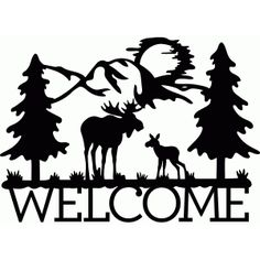 236x236 Deer Scene Silhouette Clip Art Clipart Collection
