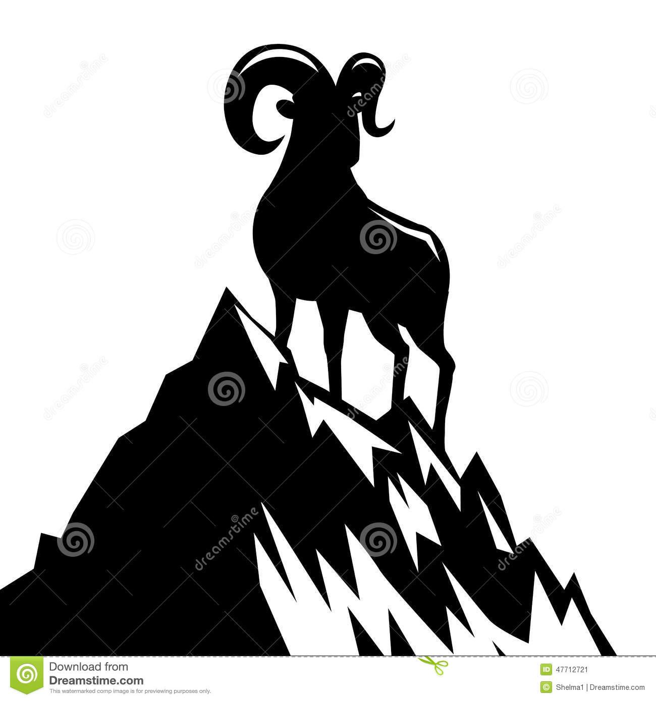 1300x1390 Mountain Goat Clipart Cute