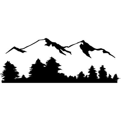501x501 Mountain Range Silhouette Clip Art