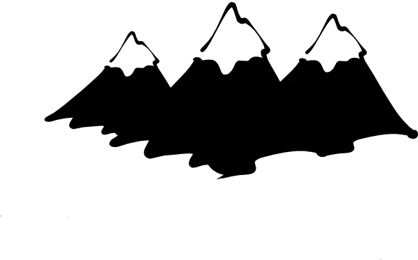 600x373 Mountain Range Silhouette Clip Art Clipart Panda