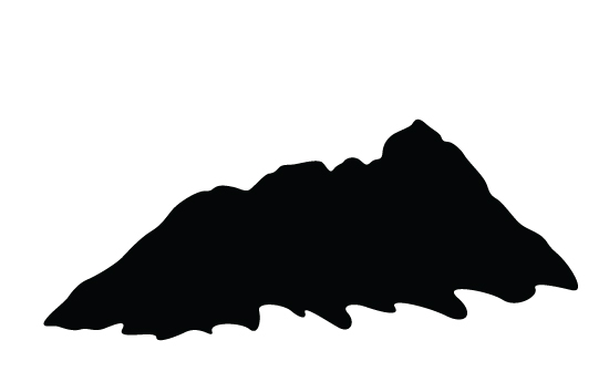 550x354 Mountain Silhouette Vector Free Download General Vector Graphics
