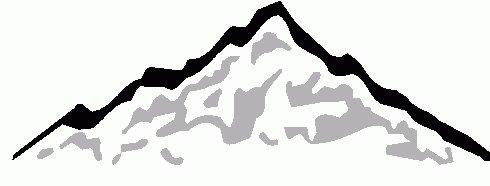 490x186 Amazing Mountain Silhouette Clip Art
