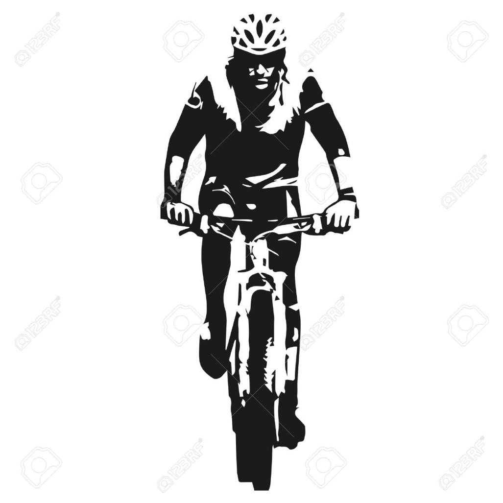 1027x1027 Mountain Bike Clip Art Silhouette Logo Pictures To Pin
