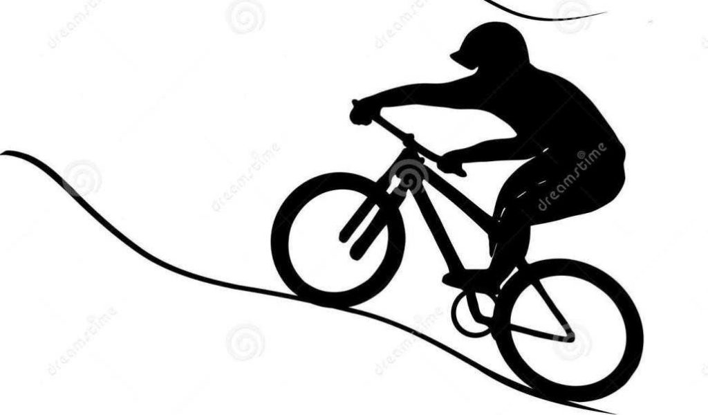 1024x600 Royalty With Mountain Bike Clip Art Silhouette Shadow On