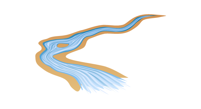 640x348 Water Stream Clipart Clipartfest Falling