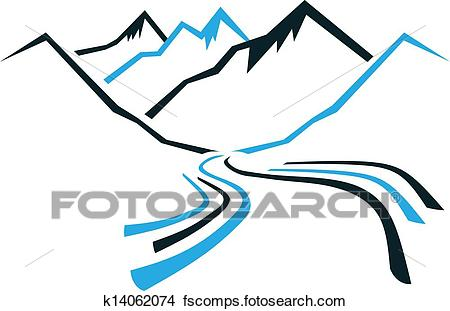 450x311 Clipart Of Mountains And Valley K14062074