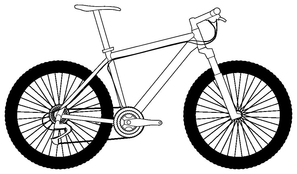999x586 Mountain Bikes Clipart