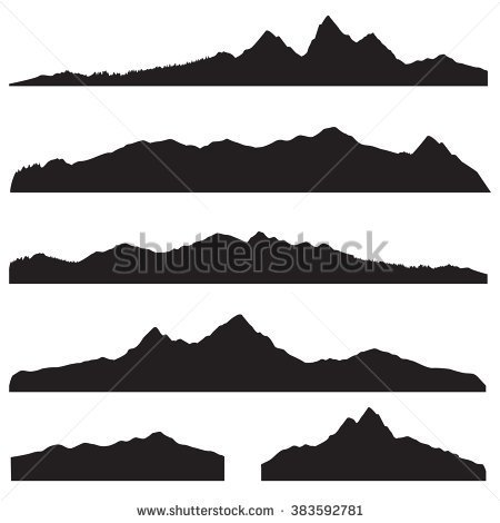 Mountains Clipart Black And White