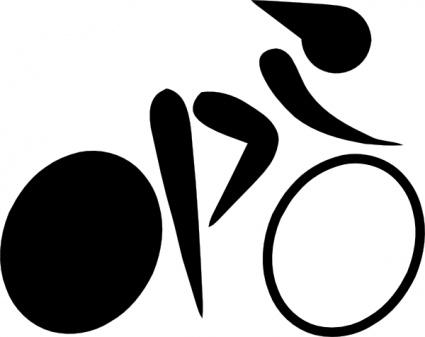 425x337 Olympic Sports Cycling Mountain Biking Pictogram Clip Art Vector