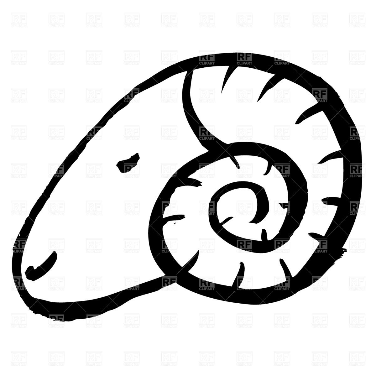 1200x1200 Portrait Of Mountain Ram Free Vector Clip Art Image