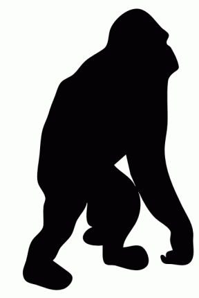 288x430 Top 88 Chimpanzee Clip Art