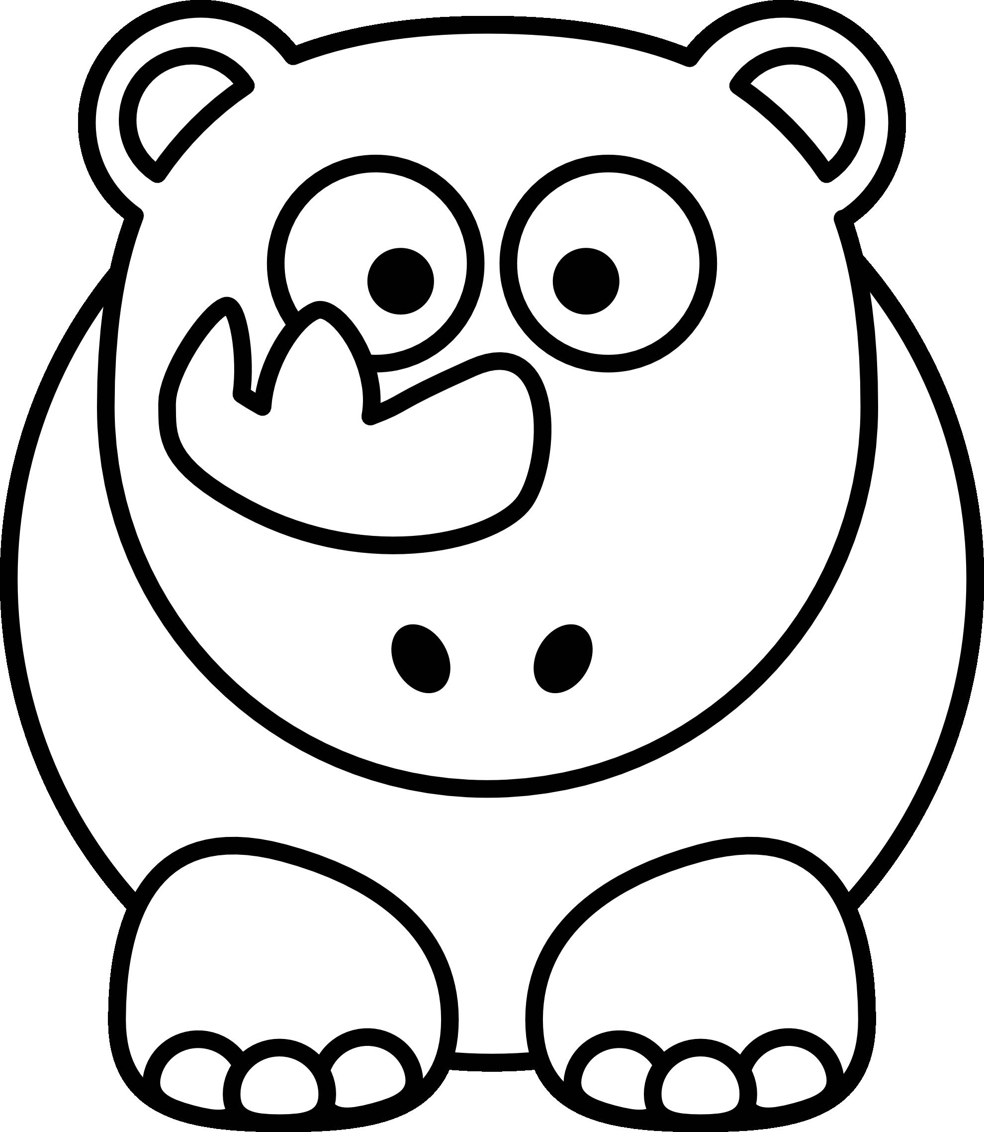 1979x2275 Clip Art Rhino Black White Line Art Super Duper Svg