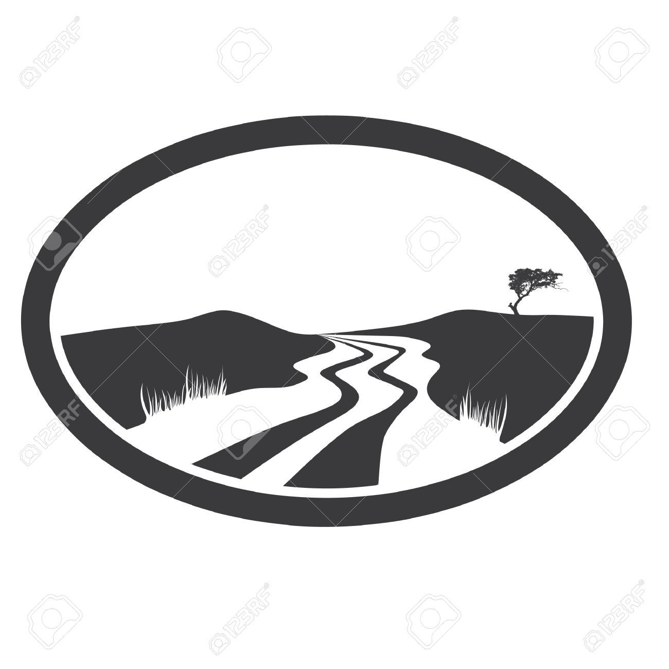 1300x1300 Road Clipart Black And White