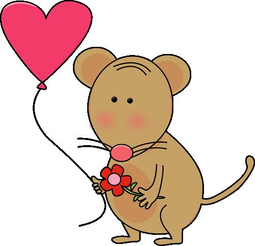 500x483 Cute Valentine's Day Mouse Clip Art