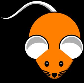 298x294 Orange Mouse Clip Art