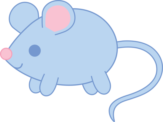 550x411 Baby Blue Mouse