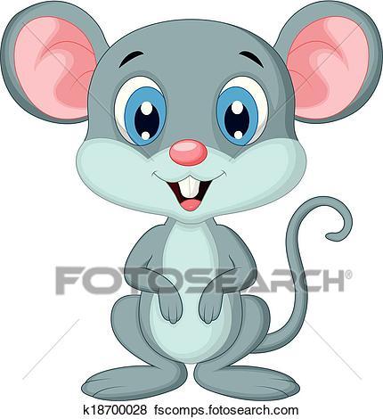 430x470 Clip Art Of Cute Mouse Cartoon K18700028