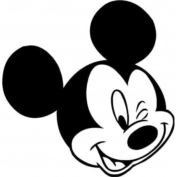 600x600 Back pics for mickey mouse clip art black and white