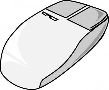 425x353 Computer mouse clipart black and white free 2