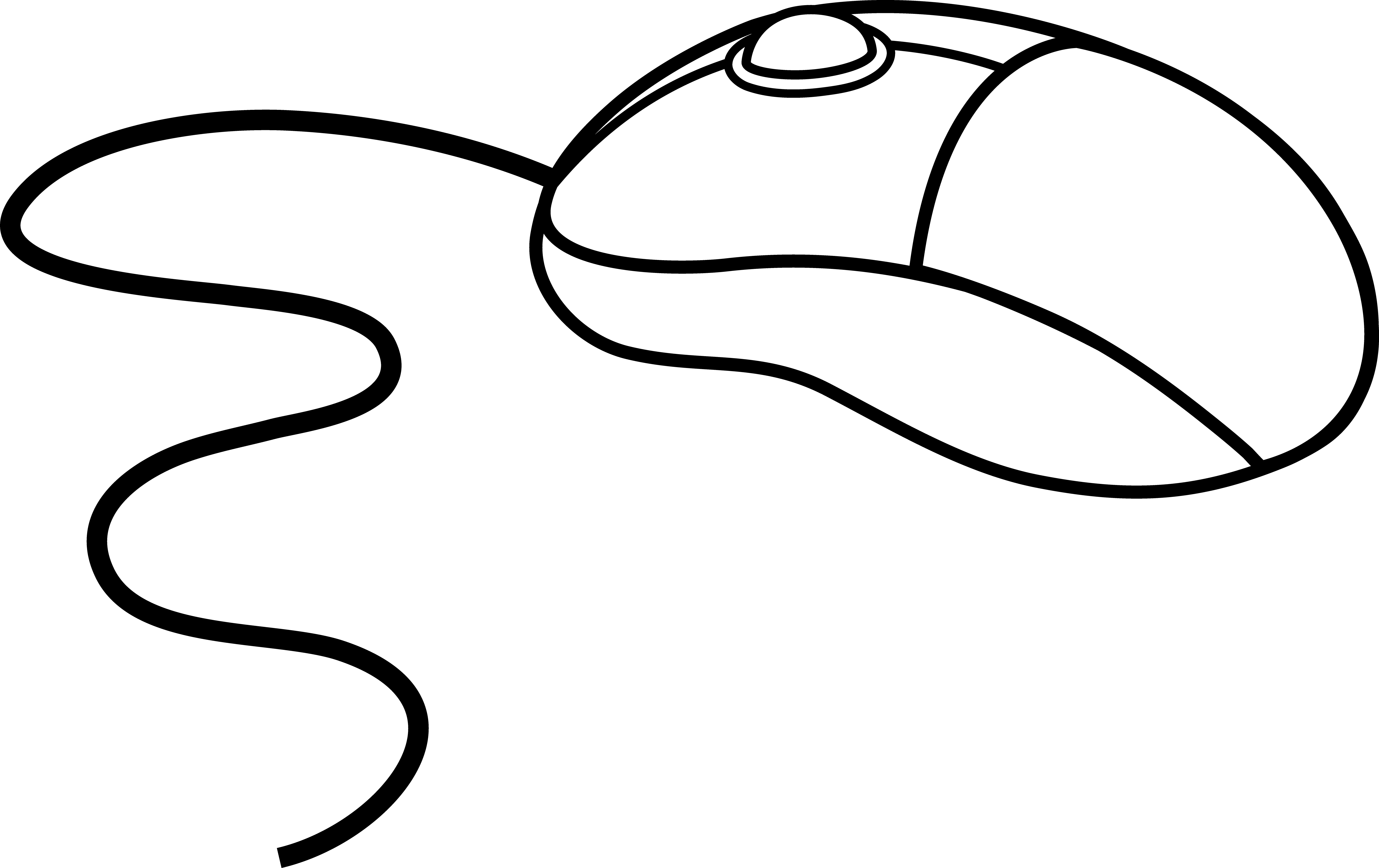 6161x3880 Computer mouse clipart black and white free 2