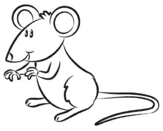 333x267 Mice clipart line drawing