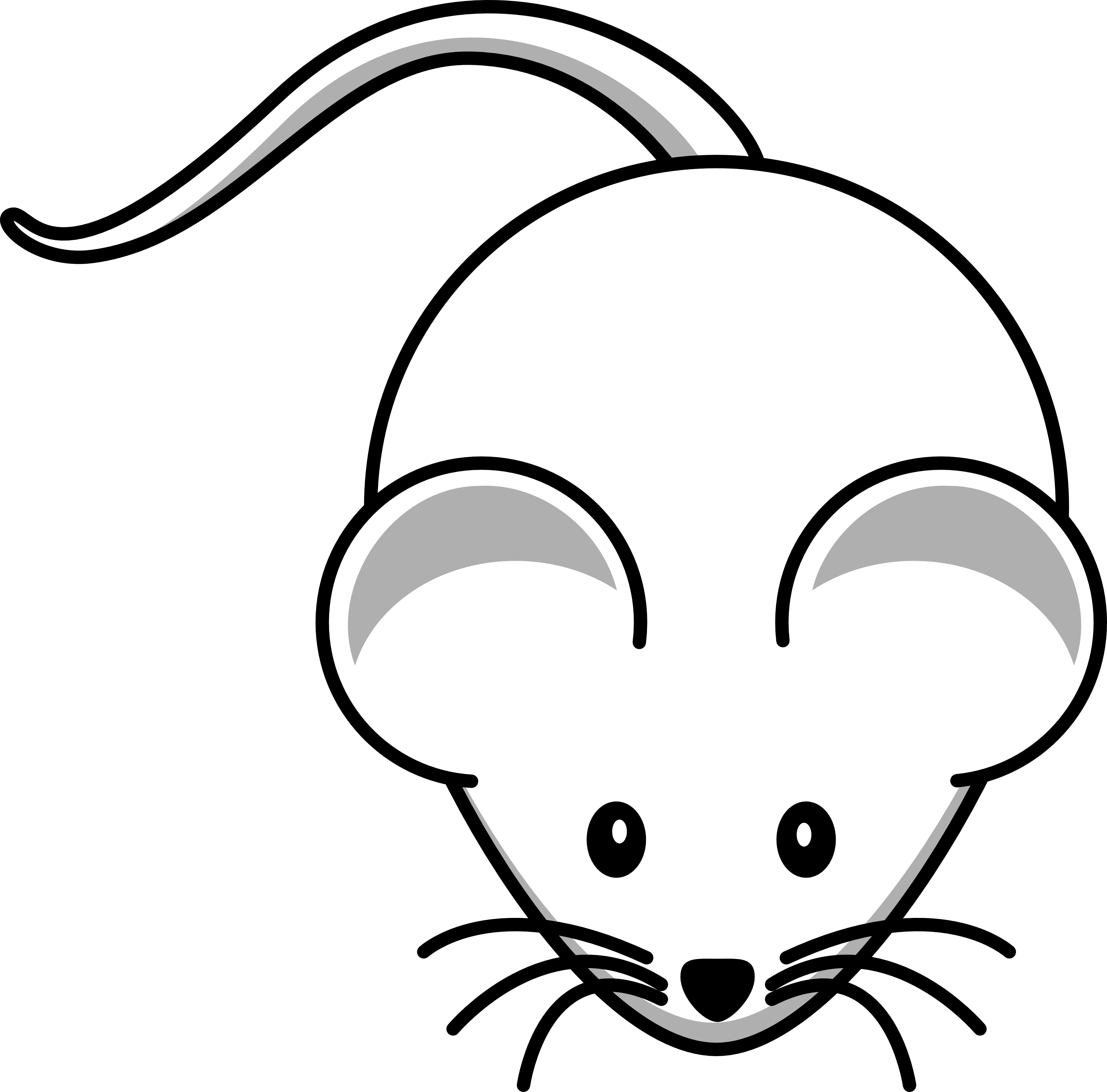 3333x3287 Mouse clipart line drawing