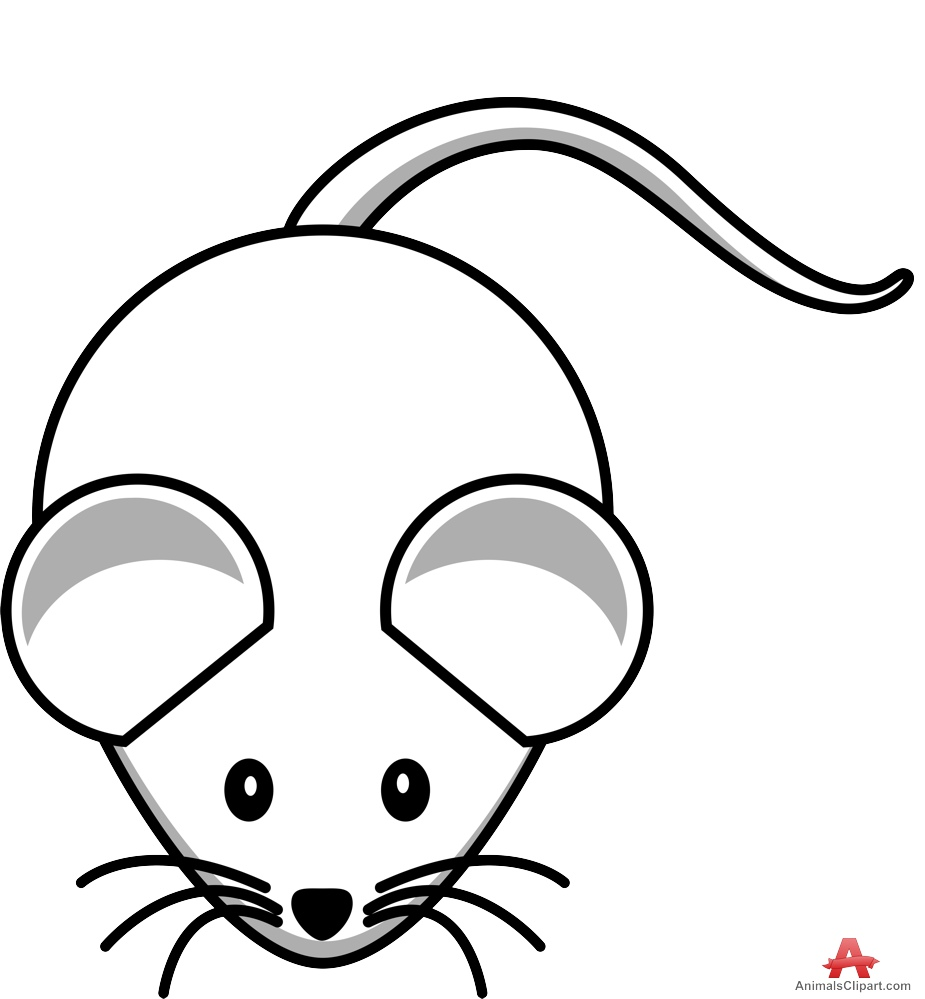 925x999 Outline Mouse Drawing in Black and White Free Clipart Design