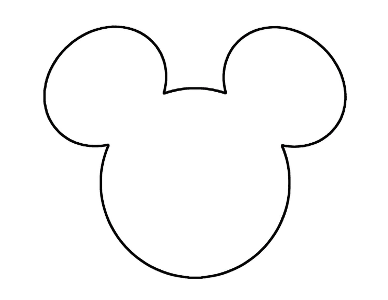 1500x1159 Best Free Clipart Of Mickey Mouse Head Drawing